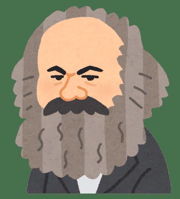 マルクスの似顔絵イラスト