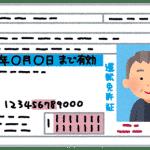 運転免許証のイラスト(おじいさん)