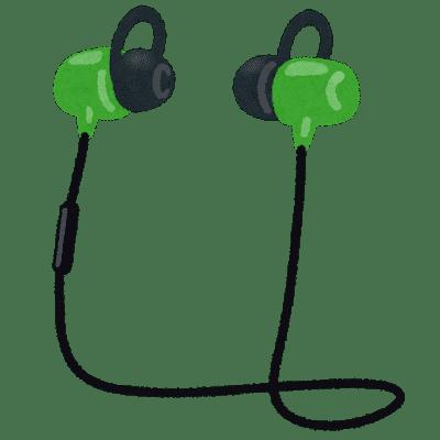 Bluetoothイヤホンのイラスト