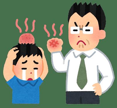 体罰のイラスト