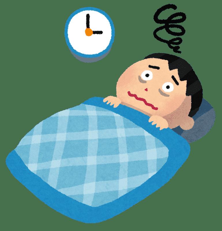 不眠症の人のイラスト