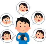 SNSをやる人のイラスト(男性)