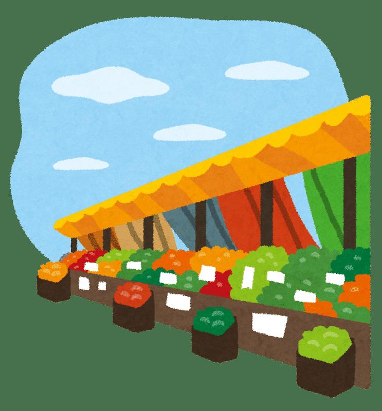 マルシェ・青空市場のイラスト