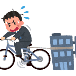 自転車操業のイラスト(男性)