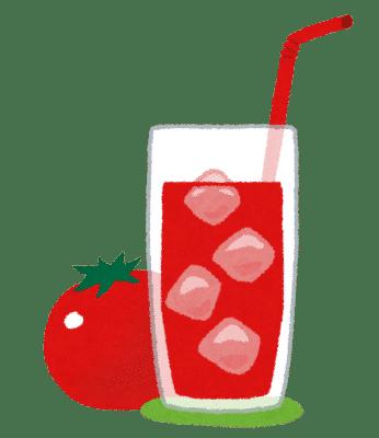 トマトジュースのイラスト