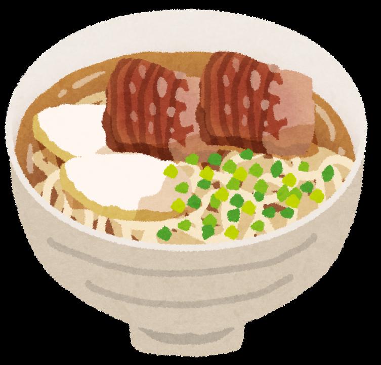 ソーキそば・沖縄そばのイラスト